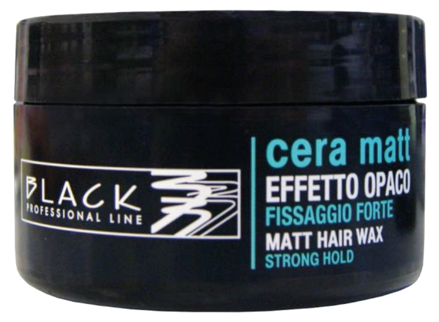 Black Matt Hair Wax Strong Hold 100 ml - profesionálna matovacia pasta na vlasy