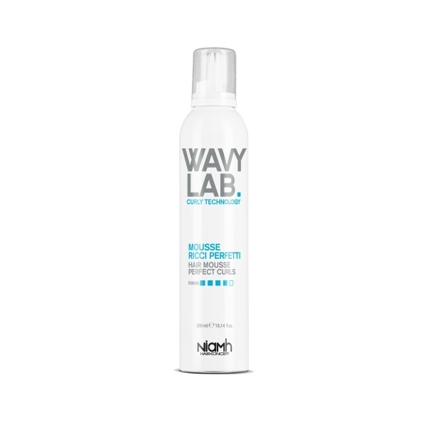 Niamh Hairkoncept Wavy Lab Curly Hair Mousse Perfect Curls 300 ml - pena pre kučeravé vlasy a pre objem