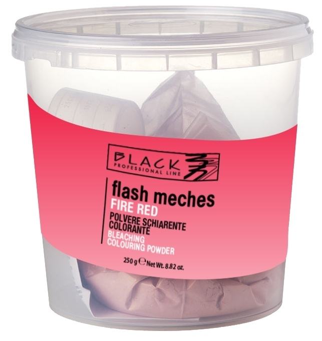 Black Flash Meches Colorante Fire Red 250 g - farebný melír na vlasy