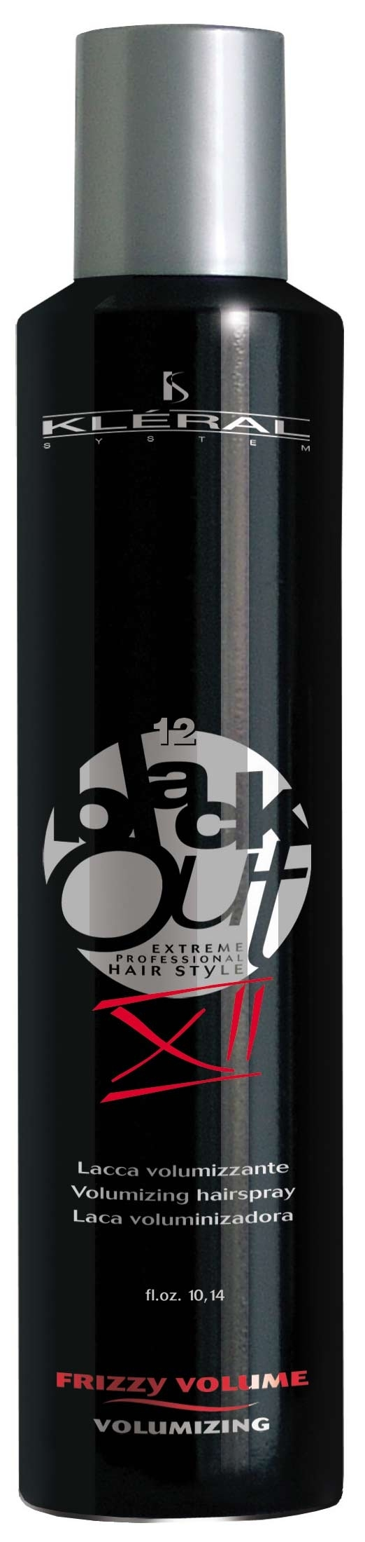Kléral Black Out FRIZZY VOLUME - volumizing XII 300 ml - lak na vlasy